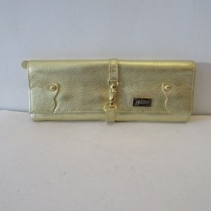 GIVE GOLD LEATHER JEWELRY TRAVEL POUCH